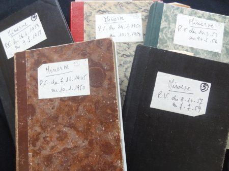 Cinq livres d'Architecture de la loge Minerve 1945 à 1959 Archives des Loges de la GLFF